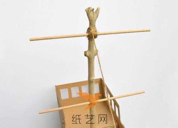 废旧纸箱手工制作 废纸箱变身手工海盗船玩具制作教程