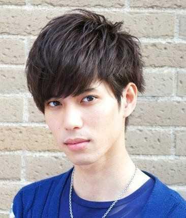 男直刘海发型图片 2014年男生直刘海发型设计图片图片