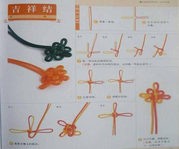 打结方法图解 各种手串打结图解方法
