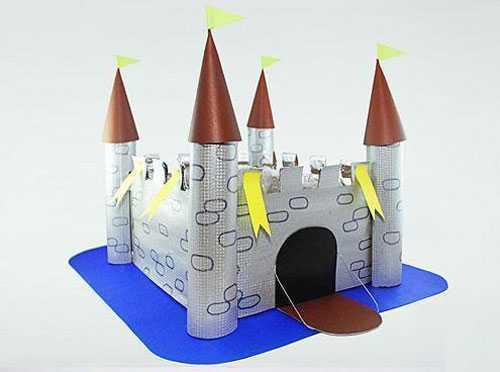 箱子制作 废旧纸箱手工制作一个漂亮的城堡教程