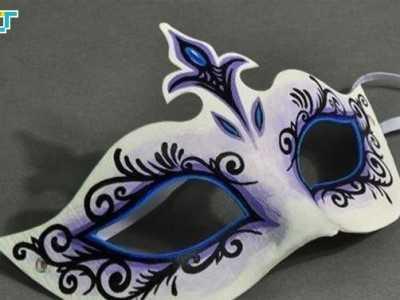 儿童舞会面具图片手绘 手工制作手绘纸面具图片教程
