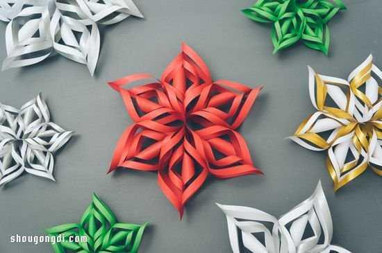 立体六角体怎么做 六角形立体挂花风铃剪纸手工制作方法步骤