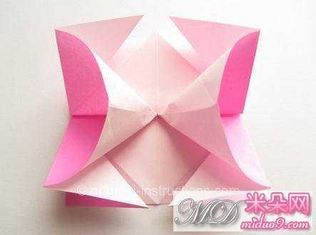 纸玫瑰简单步骤23.