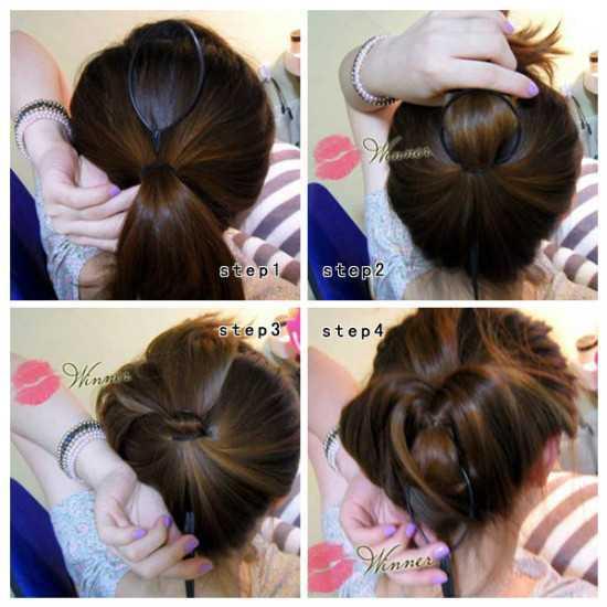 100种盘头发的方法 女性的100种扎头发方法