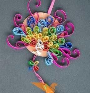 手工制作挂件 美丽的挂饰手工制作瓦楞纸挂饰花
