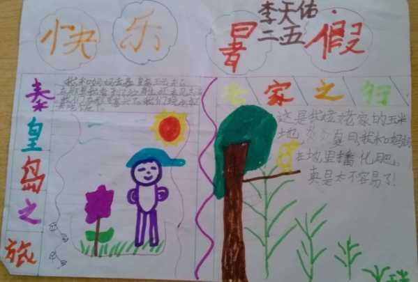 快乐暑假手抄报内容 二年级快乐暑假手抄报资料图片