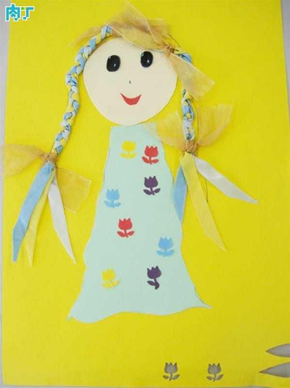 儿童纸贴画 儿童布贴画作品欣赏