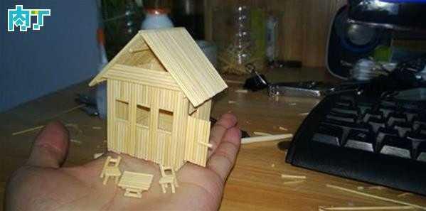 牙签手工 手工diy用牙签做房子步骤图解及图片欣赏