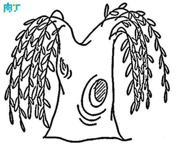如何画简单的树 柳树简笔画图片及教程大全
