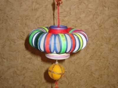 小学生手工制作灯笼 一次性纸杯手工制作灯笼制作方