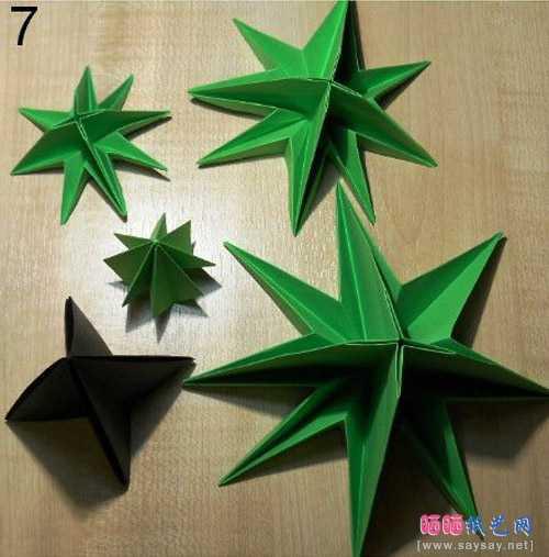 圣诞节折纸 立体圣诞树手工折纸图片教程
