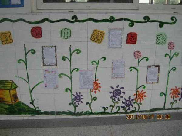 小学班级外墙布置图片 小学教室走廊班牌班级文化墙 -图片