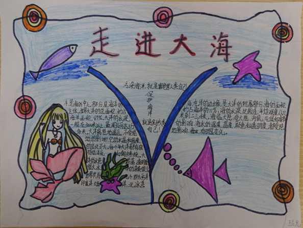 关于海洋的手抄报 关于海洋手抄报图片6幅