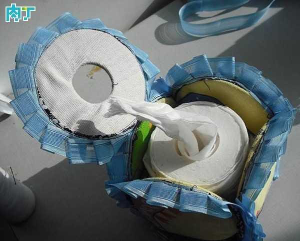废旧光盘手工小制作 可爱的纸巾盒做法图解